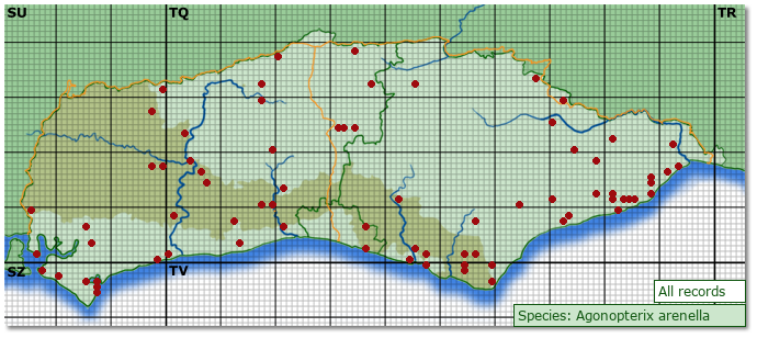 Distribution map for Agonopterix arenella