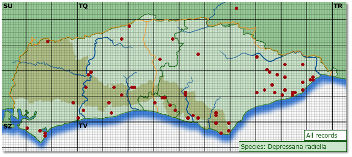 Distribution map for Depressaria heraclei