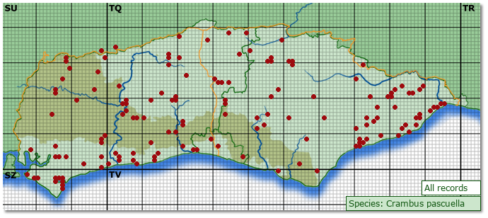 Distribution map for Crambus pascuella
