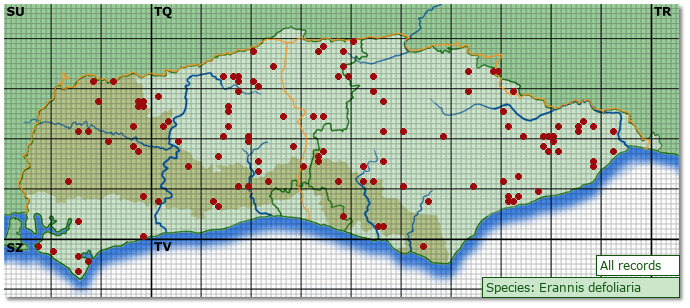 Distribution map for Erannis defoliaria