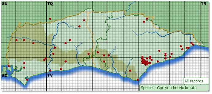 Distribution map for Luperina testacea