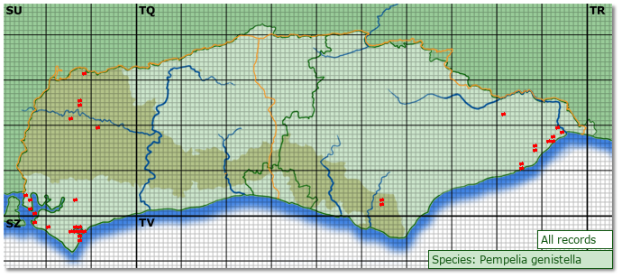 Distribution map for Pempelia genistella
