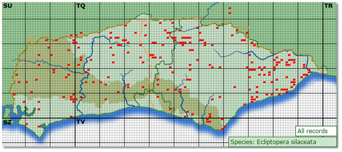 Distribution map for Ecliptopera silaceata